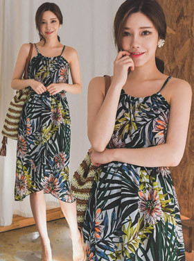 Olive Medium Summer Dress H311